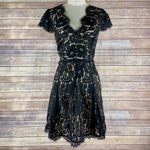 Joie NWT Sloane Black Cap Sleeve Lace Dress- 10